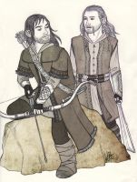 Fili and Kili - Hunting by lilis-gallery