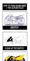 How to draw Bumblebee (The Motorcycle) by lucky1717123