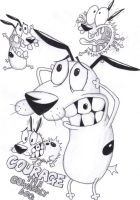 Courage the Cowardly Dog by Corina93
