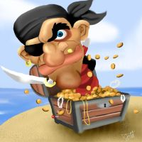 Pirate Jack in the Box by amydrewthat