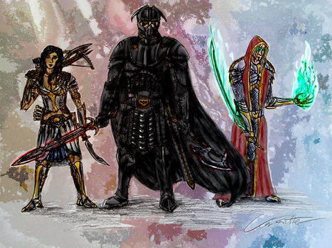 Army of Three (coloured) by Der-KAIser92