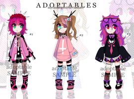 Adoptables batch #2 - OPEN (paypal) by Myonadopts