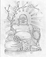 Buddha sketch by Jeremy Worst by JeremyWorst
