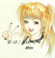 Misa with Shinigami eyes by Shu-Maat