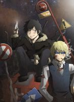 Durarara - izaya and Shizuo by Kay-Jay97