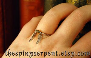 Minimalist Snitch Ring by kittykat01