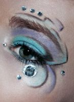 The four elements Wind/Air makeup by Jaqalynn