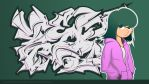 Vector graffiti girl by williamsdavinchi