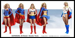 SUPERGIRL Render Tests by DouglasShuler
