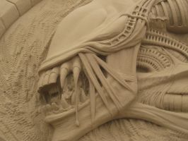 Alien from Alien vs Predator- close up by UndertakerisEpic