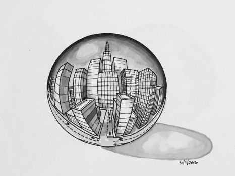 City Of Glass by eewill