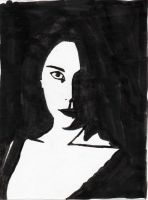 Arwen Black And White by Rose--Wolf