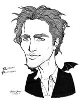 Robert Pattinson caricature by silentsketcher
