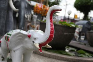 White Elephant Statue by 1301232