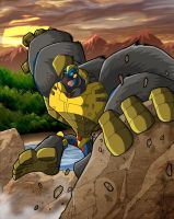 JT-blueart's Optimus Primal by MachSabre