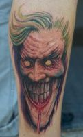 a joker tattoo by graynd