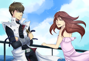 Commission- Kaiba and Piwy by Mekuvi