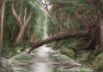The Oak In The River - COLOR by ValkAngie