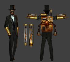 comm: steampunk lincoln by unrealsmoker