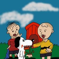 snoopy gone crazy by Shadowtek25