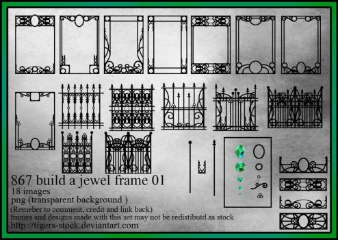 867 Build A Jewel Frame 01 by Tigers-stock