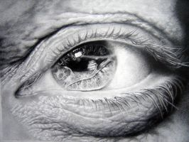 Eye study in pencil 1 by asariamarka