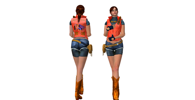 XnaLara Model: Claire Redfield ORC (Vest) by SilverMoonCrystal
