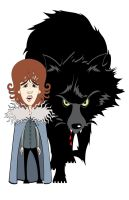 Rickon and Shaggydog by Rewind-Me