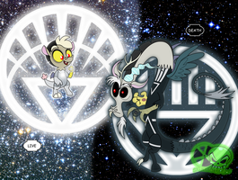 White and Black: Discord and baby Discord by skull1045fox
