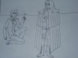 Vincent and Grimoire lineart by DarkRedTigr