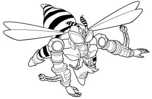 Waspinator Lineart by saiyan-frost