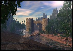 The Castle And the Walking Trees by Topas2012