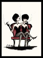 The conjoined twins by LookAliveZombie
