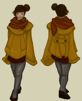 Oversized coat with back by by-MK