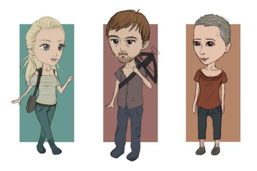 The Walking Dead Chibi Part 2 by N1mh