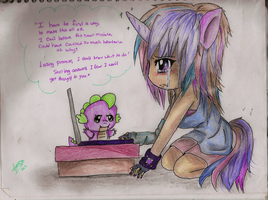Twlight Sparkle-I got to find a way by KittyNinja2009