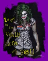 Leva Bates - Laugh and the World Laughs with YOU!! by SantillanStudio