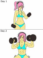 The Fitness Test Page 3 By Jessicamuscle-Color by rogex999