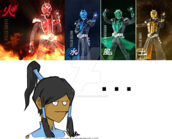 The New Kamen Rider unamuses Korra by KatsuragiRyuu