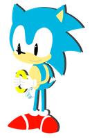 Good old classic Sonic by Lumivyory