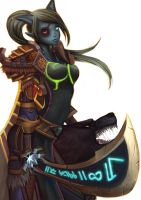 wow fan art Draenei Hunter by Angju