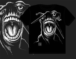 Alien Scream T-Shirt Design by Rustyoldtown