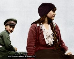 Anastasia and Alexei in WWI by Livadialilacs