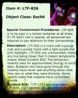 LTF-826 Info Sheet by LTF-Foundation