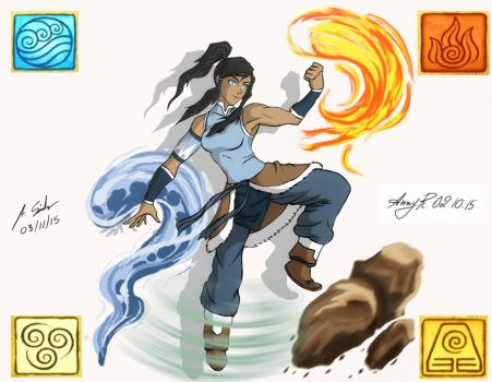 Korra collab by KSoldier
