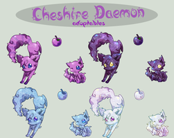 CheshireD Adoptable Set 1 by a-fools-paradise