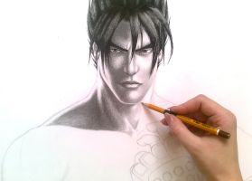 Jin Kazama in progress by Trix92