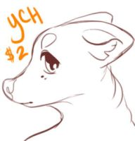 YCH: Mini Cute Canine Headshot by Gelidwolf
