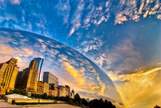 Chicago, Sunrise, Bubble by alierturk