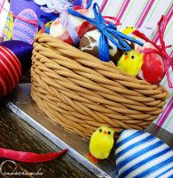 Easter Basket Cake by cakecrumbs